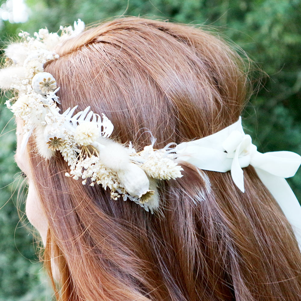 Dried Flower Crown Neutral