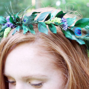 Juno Peacock Feather Flower Crown