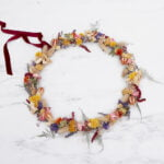 Dried Flower Wreath Colourful Boho