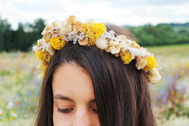 Mary Elizabeth Flowers Dried Flower Crown