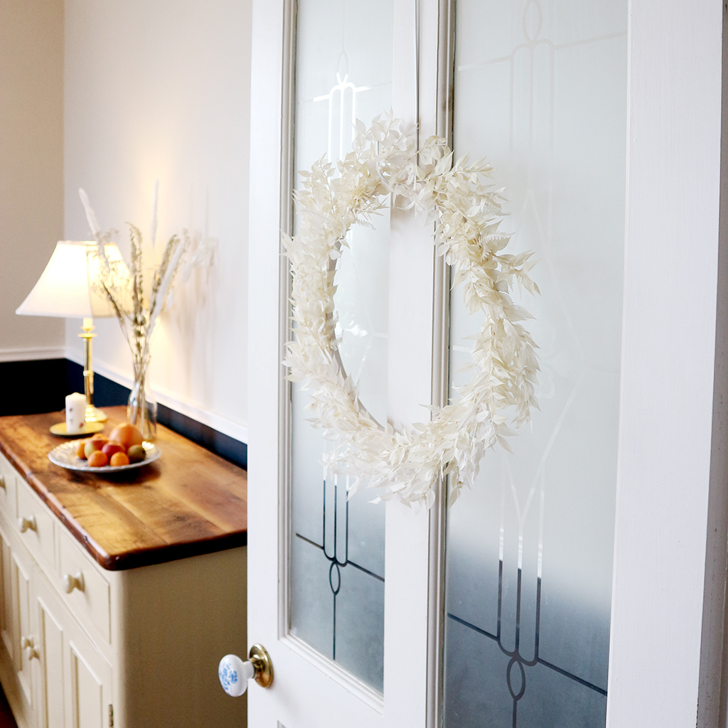 Selene White Door Wreath