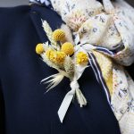 Dried Flower Buttonhole Yellow