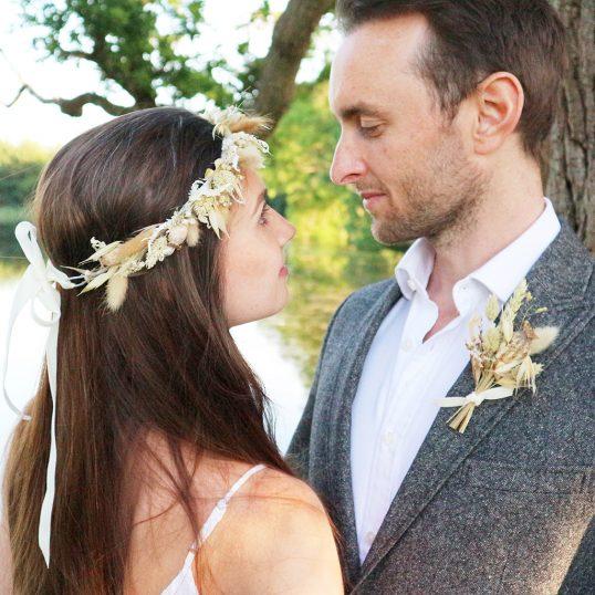 Rustic Dried Flower Wedding Accessories