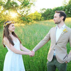 Yellow Dried Flower Wedding Set