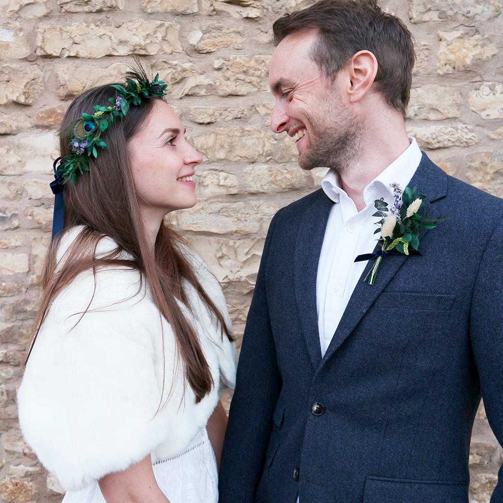 Dried Flower Winter Wedding Accessories