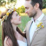 Yellow Dried Flower Wedding Accessories