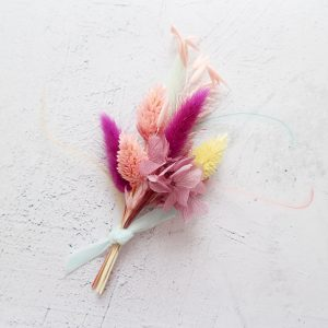Vegas Bright Dyed Dried Flower Buttonhole