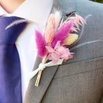 Vegas Bright Dried Flower Buttonhole