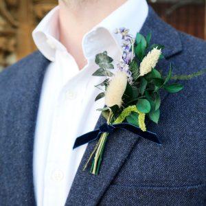 Winter Wedding Buttonhole Nicholas