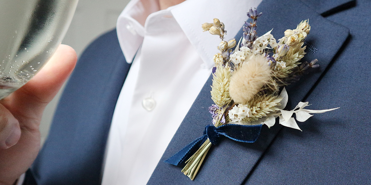 Dried Flower Buttonholes Wedding Accessories Groom Accessories Buttonhole Corsage wedding Button hole