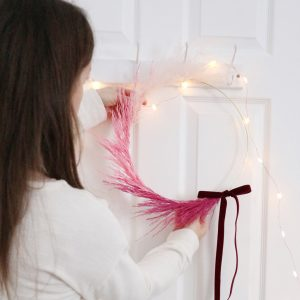 Pink Pampas Ombre Wreath Dried Flowers 1