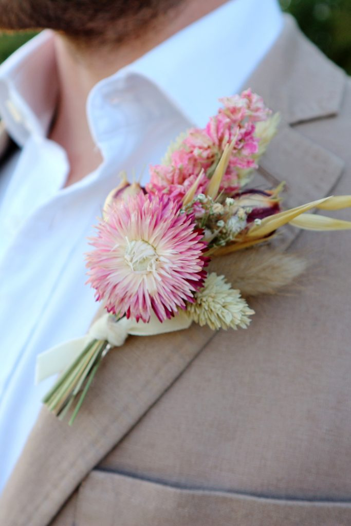 Dried Flower Wedding Buttonhole