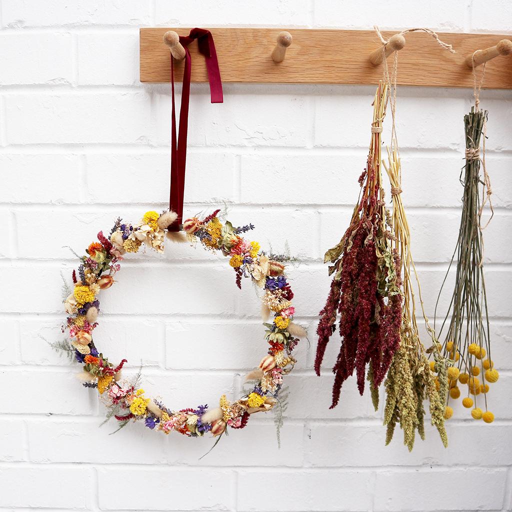 Dried Flower Door Wreath
